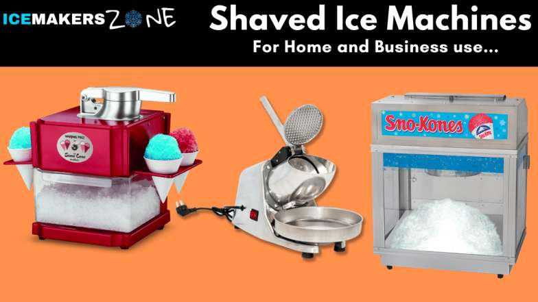 Shaved ice machines for home and business use